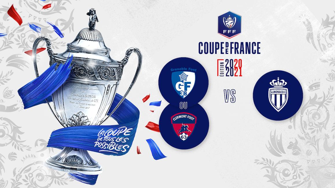 L'AS Monaco face à Clermont ou Grenoble en Coupe de France