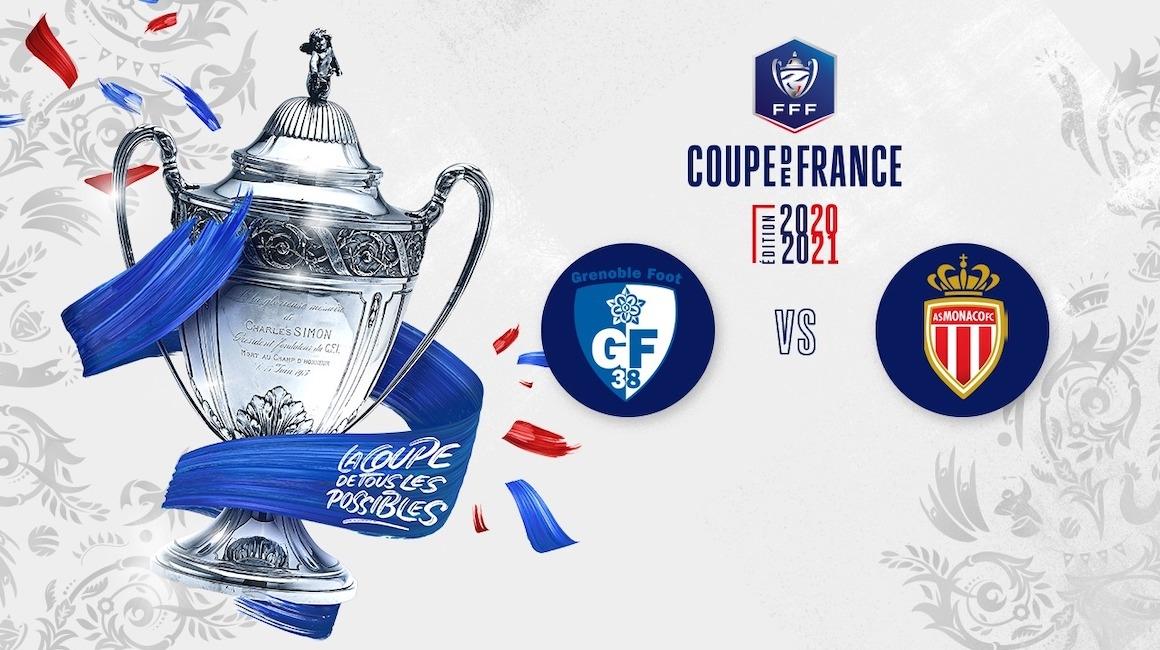 L'AS Monaco affrontera Grenoble en 32e de finale de Coupe de France