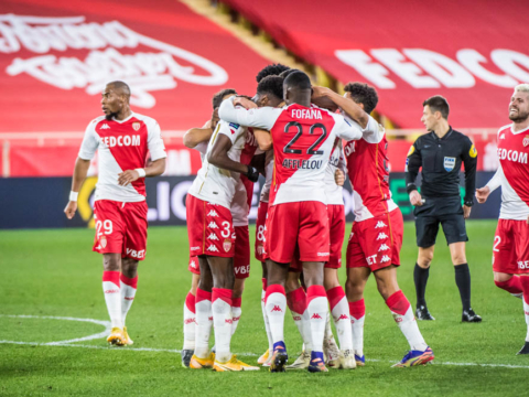 Le groupe de l'AS Monaco face à l'Olympique de Marseille