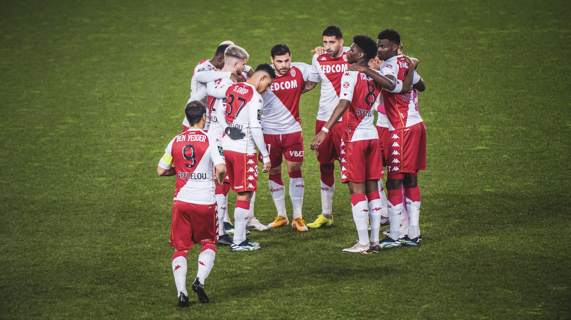 Le groupe de l'AS Monaco contre Lorient