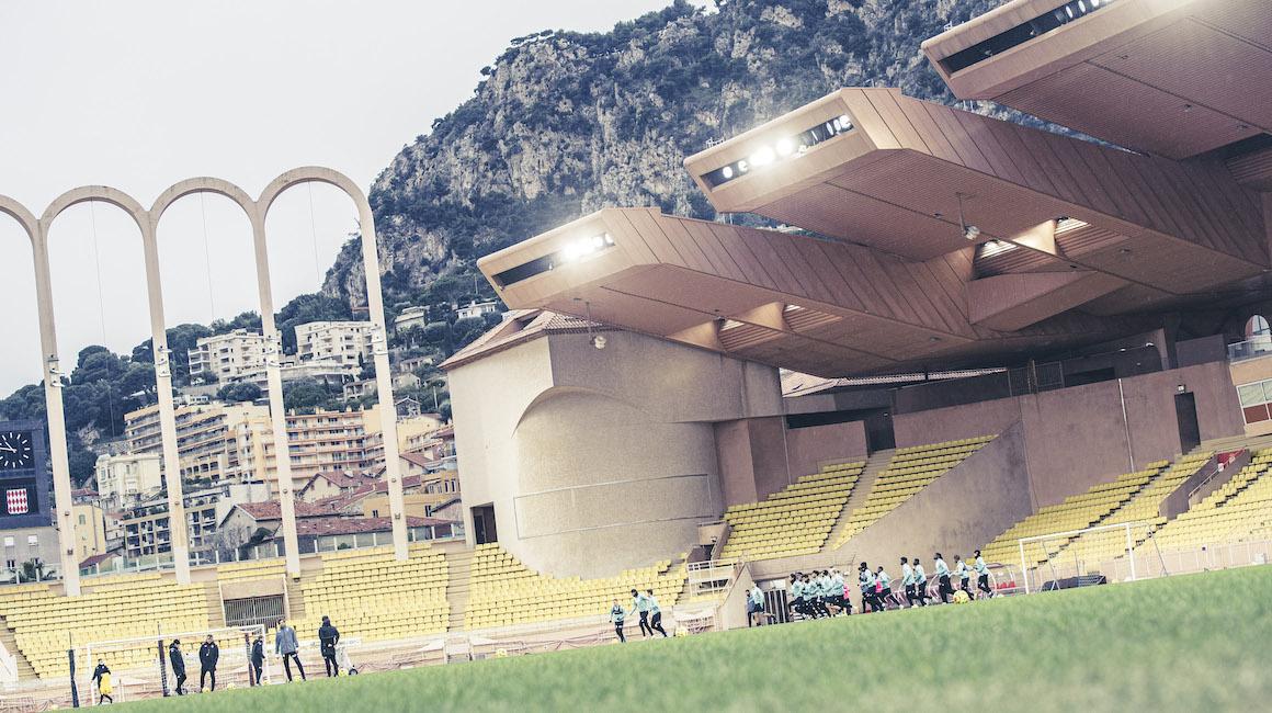 O grupo do AS Monaco contra o Angers