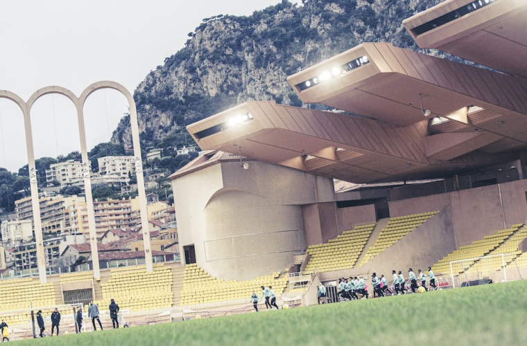 Le groupe de l'AS Monaco face à Angers
