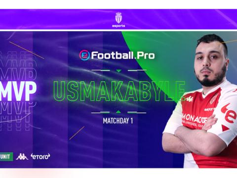 Usmakabyle élu MVP du MatchDay 1 de l'eFootball.Pro