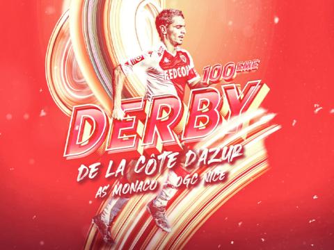 Jour de 100e derby de la Côte d'Azur