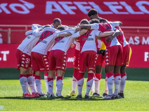 Le groupe de l'AS Monaco contre le Stade Brestois