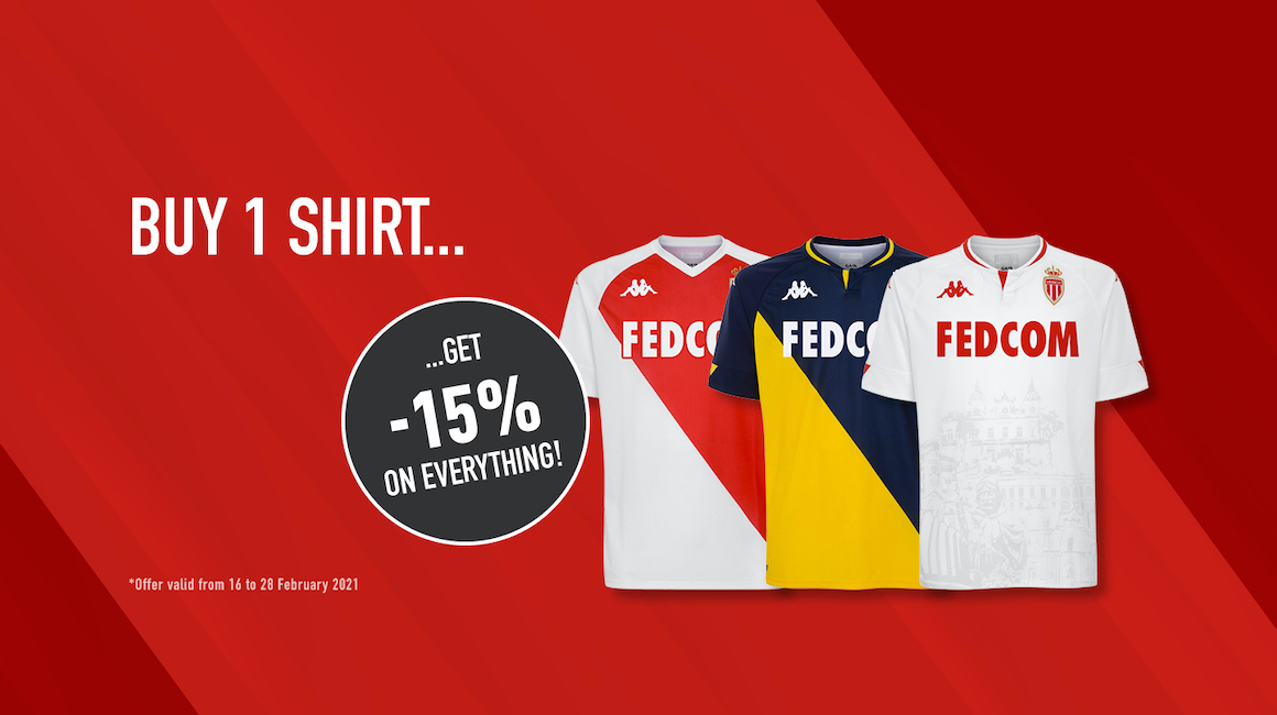 Purchase one of the current season's jerseys and take an 15% extra off!