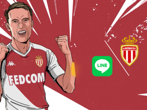 AS Monaco launches its LINE account!