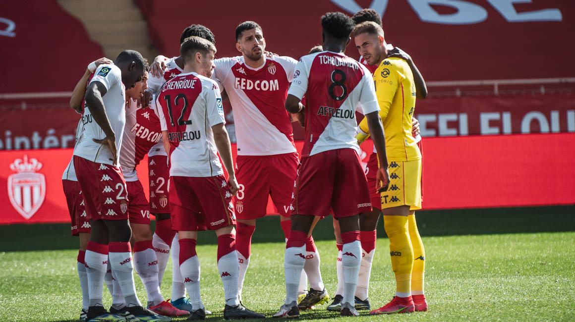 Le groupe de l'AS Monaco pour le choc contre Lille