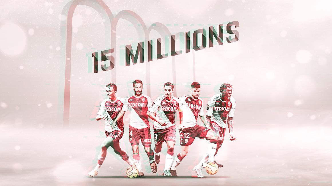 L'AS Monaco passe les 15 millions de fans sur les réseaux