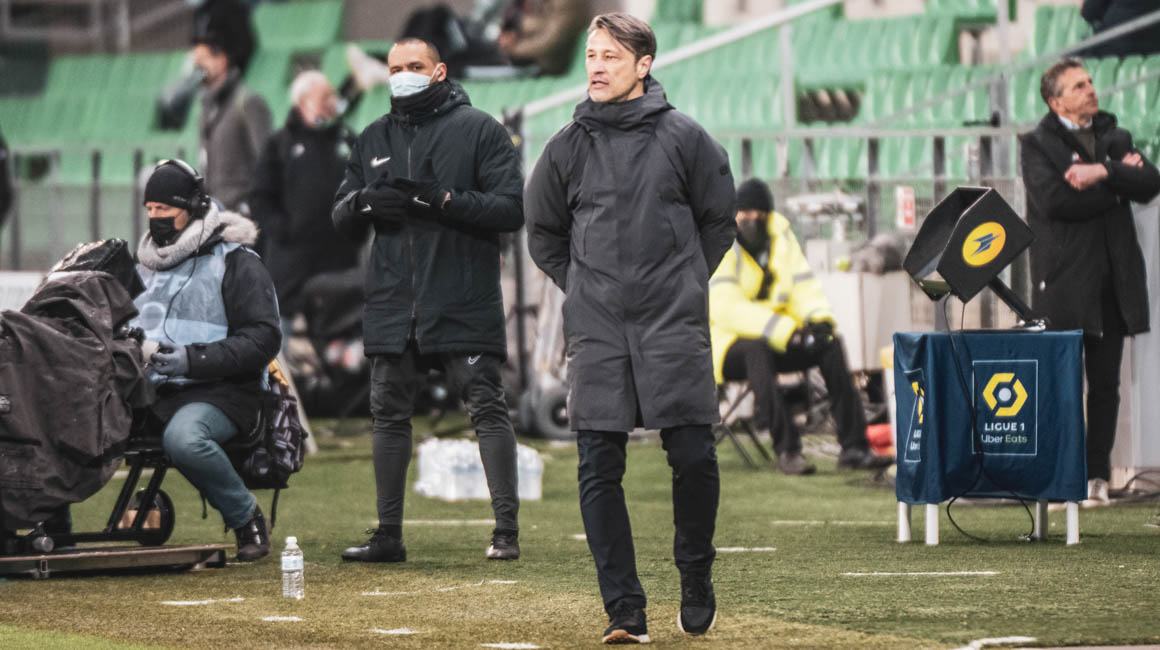 The reactions of Niko Kovac and Stevan Jovetić after the win
