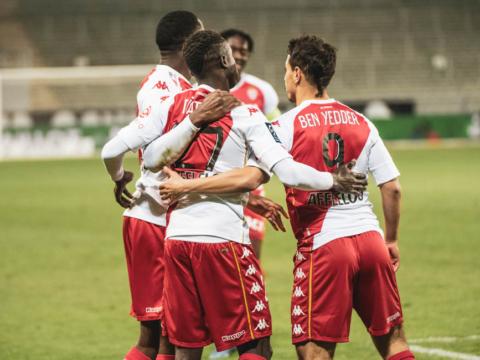 Le groupe de l'AS Monaco pour la réception de Metz
