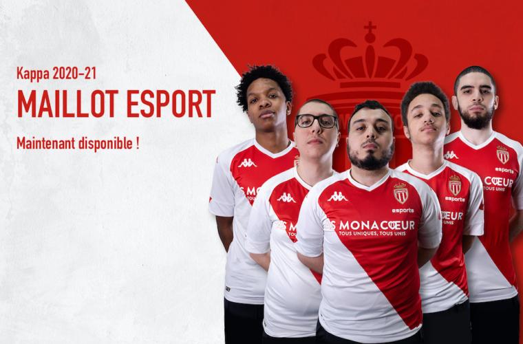 Le maillot de l'AS Monaco Esports désormais en vente