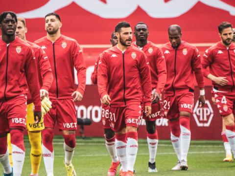 Le groupe de l'AS Monaco pour la réception de Dijon