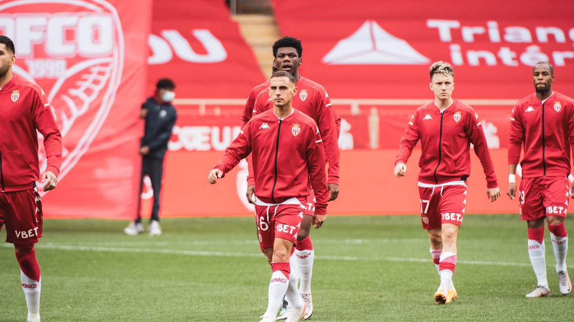 Le groupe de l'AS Monaco pour le déplacement à Bordeaux