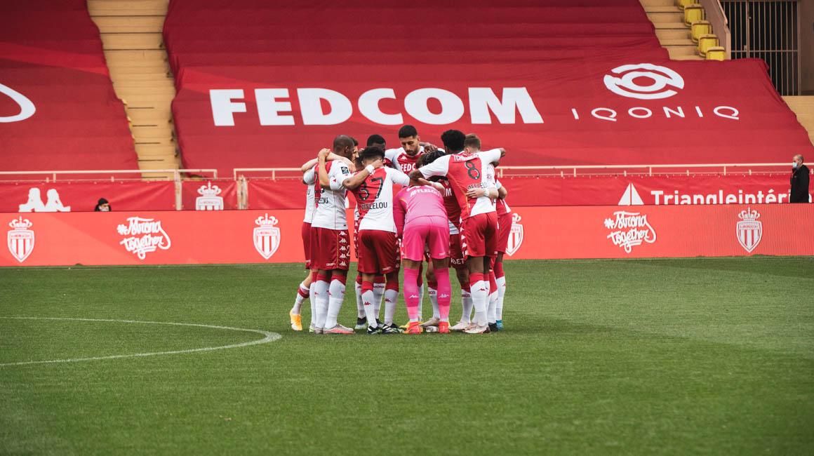 Le groupe de l'AS Monaco pour la réception de Rennes