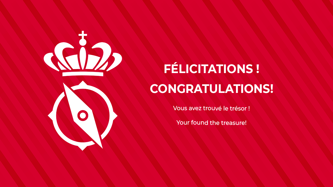 Félicitations, tu es le boss de la chasse au trésor !