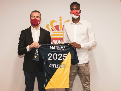 Chrislain Matsima prolongó su contrato con el AS Monaco hasta 2025