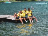 Pause fraîcheur dans le lac de Zell See pour les Rouge et Blanc