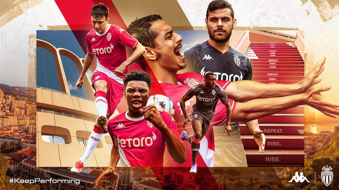 El AS Monaco presenta sus camisetas para la temporada 2021-2022