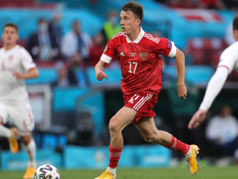 La Russie d'Aleksandr Golovin éliminée lors des poules de l'Euro 2020