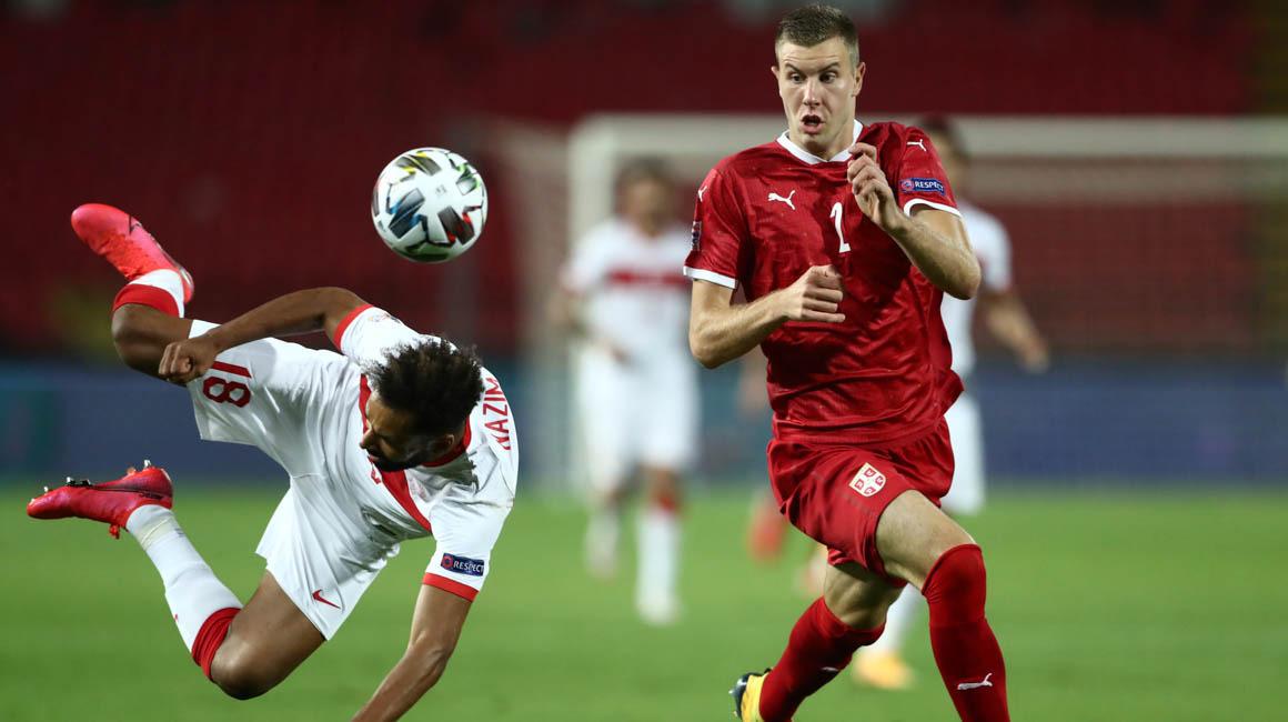 Strahinja Pavlović buteur avec la Serbie face à la Jamaïque