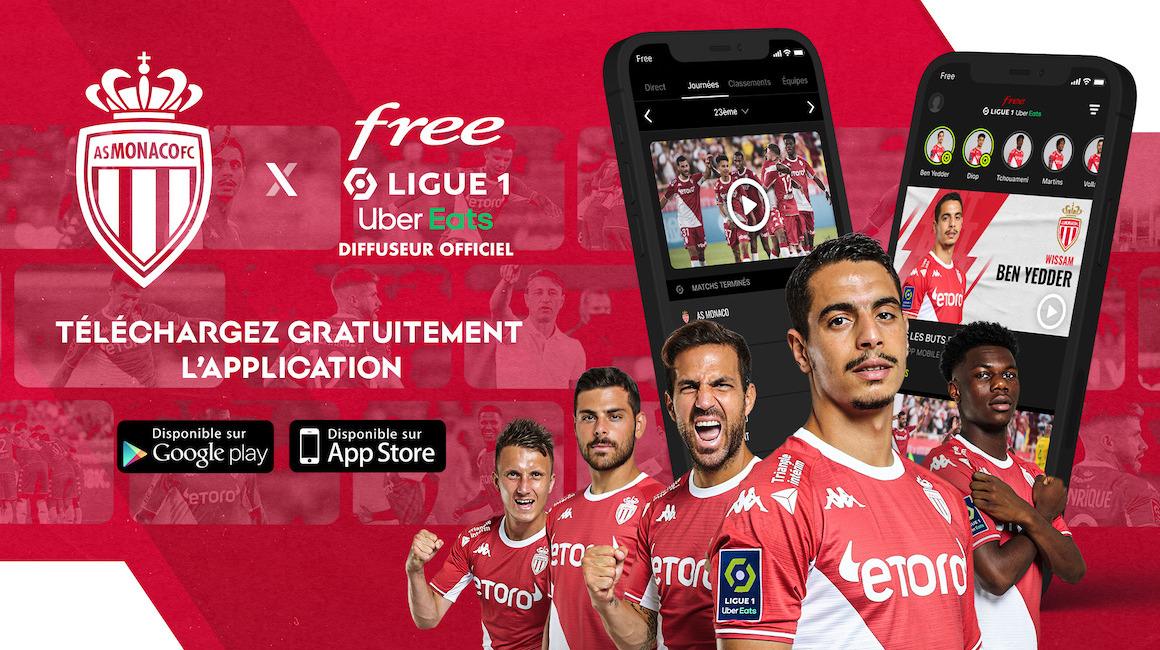 Télécharge l'appli' Free Ligue 1 pour suivre l'AS Monaco en direct