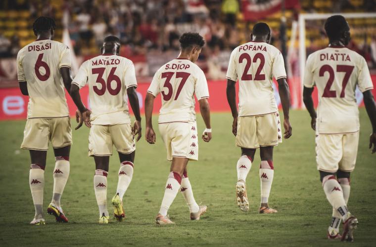 Le groupe de l'AS Monaco pour le voyage à Lorient