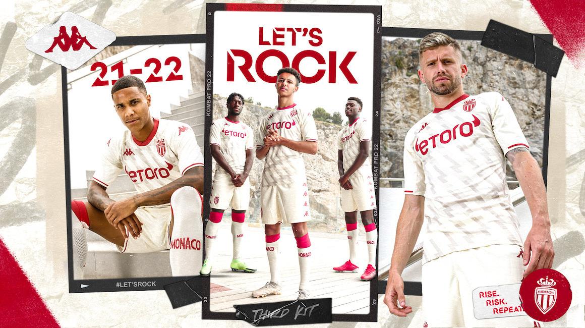 Esta es el tercer uniforme del AS Monaco