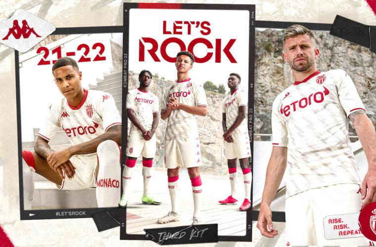 O AS Monaco apresenta a sua nova terceira camisa