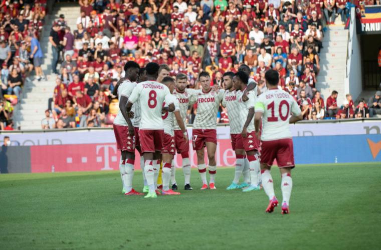 Le groupe de l'AS Monaco pour la réception de Nantes
