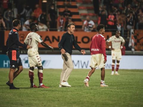 As reações de Niko Kovac e Axel Disasi após a derrota para o Lorient
