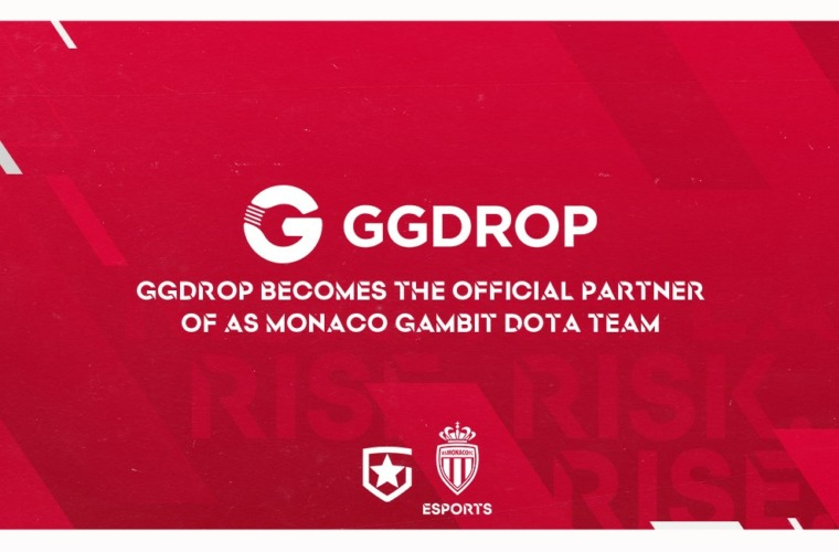 GGDROP Becomes the Official Partner of Gambit Esports and AS Monaco Gambit
