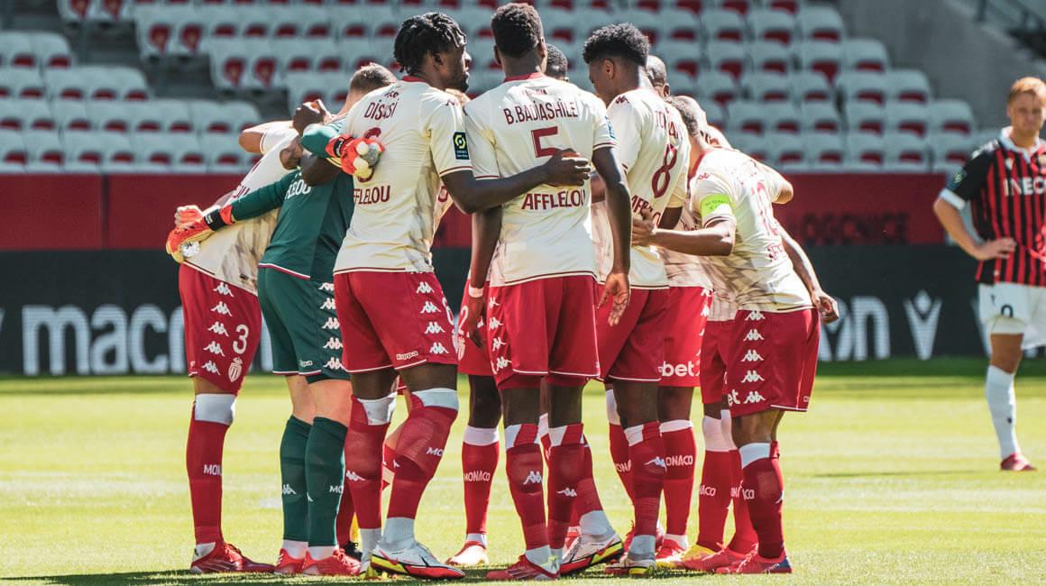 Le groupe de l'AS Monaco pour la réception de Saint-Etienne