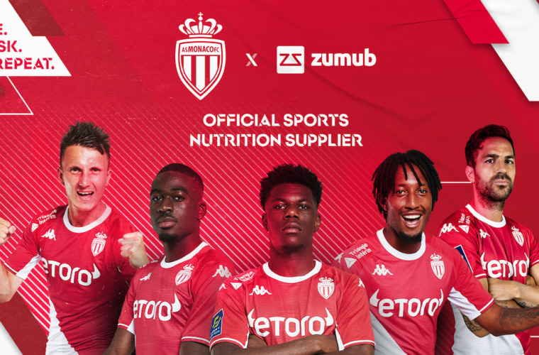 Zumub is AS Monaco's new Official Sports Nutrition Supplier