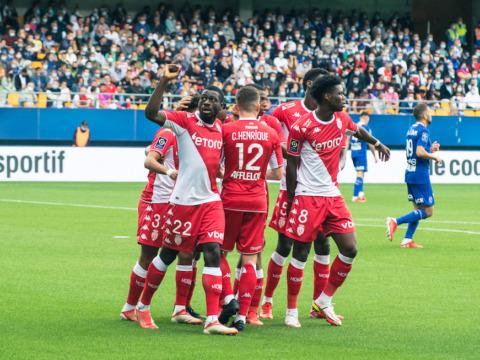 Le groupe de l'AS Monaco pour le choc face à Marseille