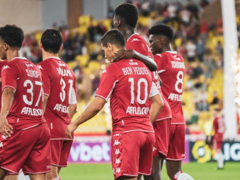 Le groupe de l'AS Monaco pour le déplacement à Clermont