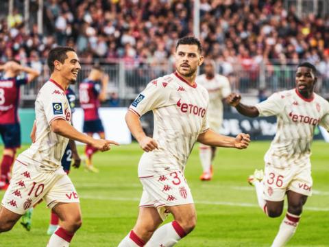 Le groupe de l'AS Monaco pour le choc à Lyon