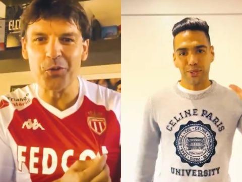 Falcao y Morientes celebraron los 200 partidos del Monaco en Europa