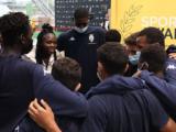 Les jeunes de l'Academy à la rencontre de Clarisse Agbegnenou